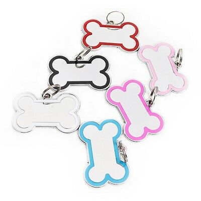 Traditional Deep Engraved Dog Bone Customised and Personalised Pet ID Name Tags
