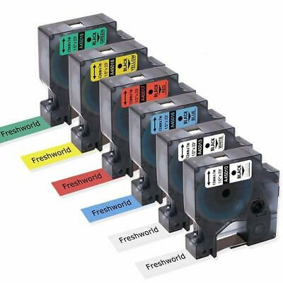 6Pk 45013 Label Tape Combo Set Compatible with DYMO D1 1/2'' LabelManager 160
