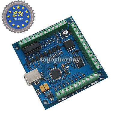 4-Axis USB CNC Controller Card Smooth Stepper Motion for CNC Engraving 12-24V DE
