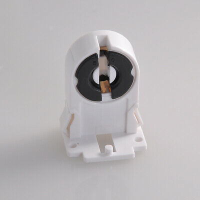 GN- 50pcs Black White Plastic Fluorescent Controller  Socket recently for T8 LED