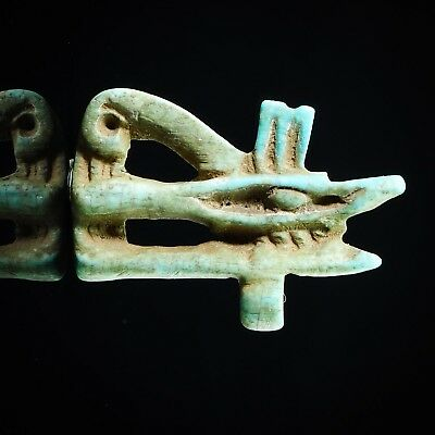 Ancient Amulet Eye of Egyptian god Horus Amulet protection Faience Pendant BIG