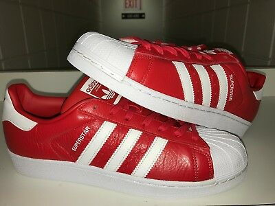 official photos 294fc 3de3a NEW ADIDAS SUPERSTAR FOUNDATION MEN S Sz 10.5 SHOES SNEAKERS RED WHITE  BB2240