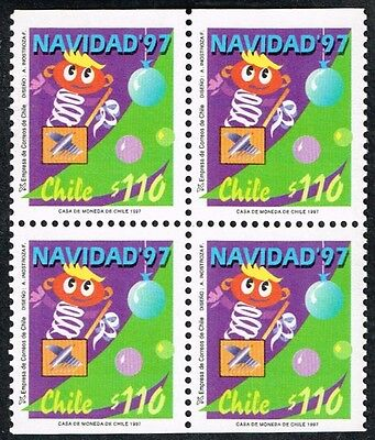 CHILE 1997 STAMP # 1888a MNH BLOCK OF FOUR CHRISTMAS