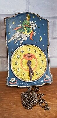 Russian USSR Tin Faced Pendulum Wall Clock rare vintage wall collectors item old