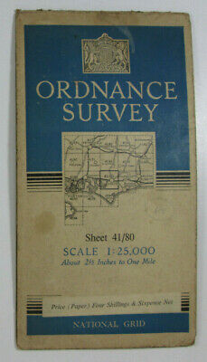 1948 Old OS Ordnance Survey 1:25000 First Series Map SU 80 Chichester 41/80