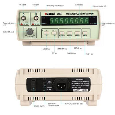 3165 Digital High Precision Radio Frequency Counter Tester Meter 0.01Hz-2.4GHz C