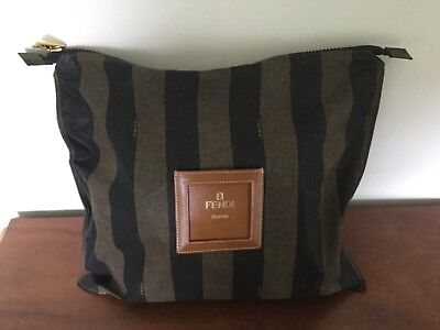 FENDI Vintage Fold Away Shopping Bag With Gold Hardware Immaculate