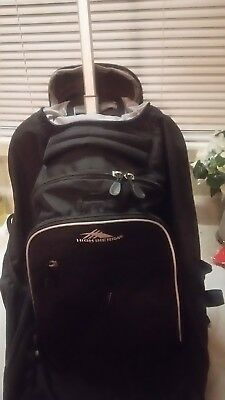 High Sierra  Wheeled Book Bag Backpack, Black