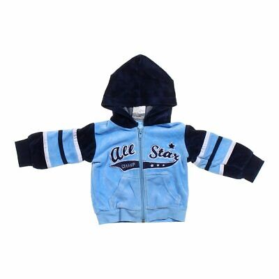 Tuff Guys Baby Boys Zip-up Hoodie, size 3 mo,  light blue,  cotton, polyester