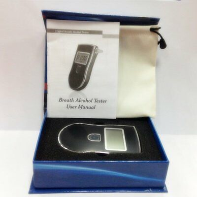 Portable Professional Police Digital Breath Alcohol Tester Breathalyzer C8
