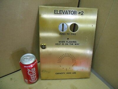 VINTAGE- NEW YORK CITY  ELEVATOR PANEL PLATE BRASS salvaged from old building