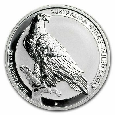 2017-P AUSTRALIA WEDGE TAILED EAGLE - 1 oz BU Silver Coin in Flip #891