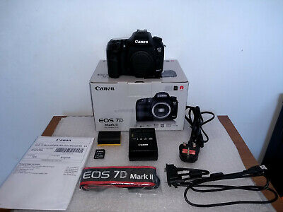 Canon EOS 7D Mark II BOXED and complete UK model DSLR Camera Body Only mk2 mkii
