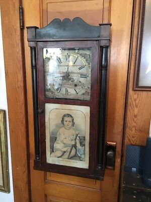 Antique Seth Thomas Wall Mantel Clock Beautiful Original Directions Inside