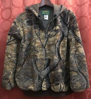 ee27ceaec40e0 S Vintage CABELA'S Dry Plus USA Made MOSSY OAK Fleece PULLOVER HOODIE Low  Miles