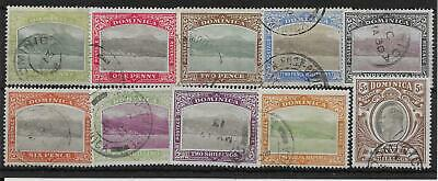 Dominica Sg27/36 1903-7 Definitive Set Used