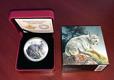 The Commanding Canadian Lynx $20 Fine Silver Coin Royal C. Mint 2016