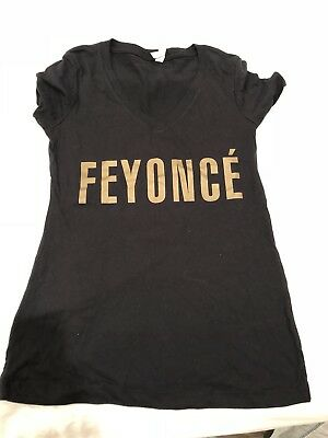 a804ccac NWOT Black/Gold Feyonce Fiancé Engagement Bachelorette Tee Womens Medium