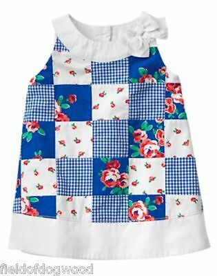 NWT Gymboree Animal Party Striped /& Chambray Dress Toddler 12 18-24M,4T
