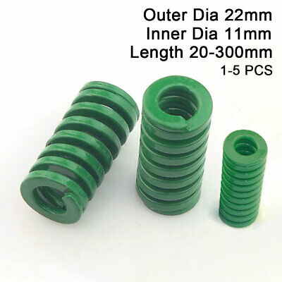 22mm OD Green Heavy Duty Compression Stamping Mould Die Spring 11mm ID All Sizes