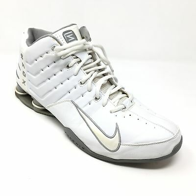 size 40 851ab 0128d Men s Nike Shox Elevate Basketball Shoes Sneakers Size 15 White Gray  Leather AD7