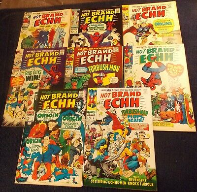 Silver Age Parady: Not Brand Echh 1,2,3,4,5,6,7,8,F-VF to VF+, GREAT LOT!