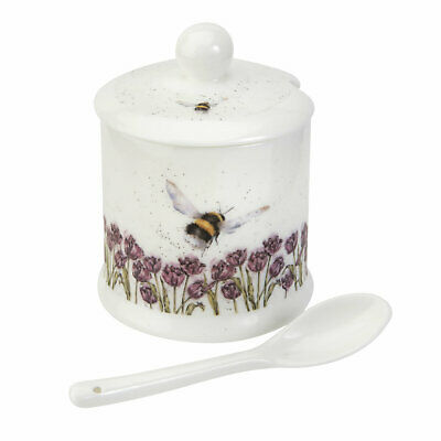 Wrendale by Royal Worcester Conserve/Condiment/Jam Pot with Spoon - Bumble Bee