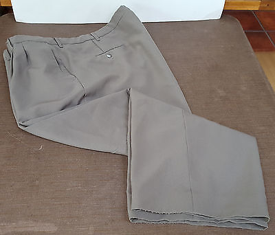 """John Blair Mens Dress Pants Pleated Olive/Brown 54"""" x 25 1/2"""" Altered LAUNDERED!"""