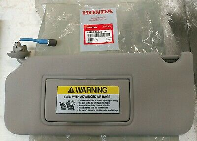 2008-2012 Honda Accord Driver Left Sun Visor Lght Gray Sunvisor OEM NEW 09 10 11