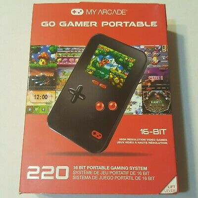 My Arcade Go Gamer Portable 16-BIT Gaming System with 220 Built-in Video Games