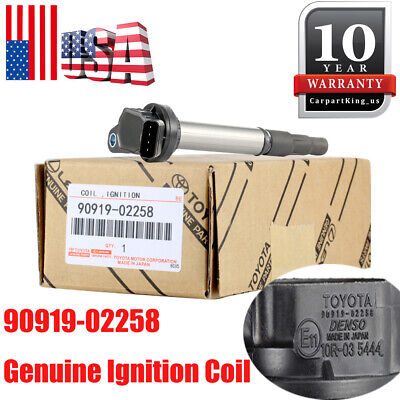 Genuine Ignition Coil 90919-02258 for Toyota Corolla Matrix Prius Scion xD 1.8L