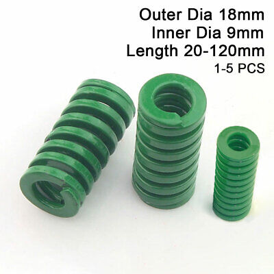 18mm OD Green Heavy Duty Compression Stamping Mould Die Spring 9mm ID All Sizes