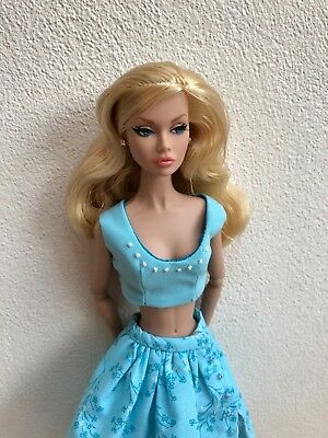 Poppy Parker, Barbie MTM, doll clothing, Floral Skirt with snap, Shirt
