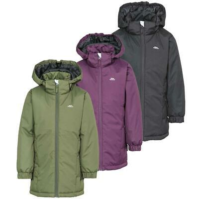 Trespass Primula Girls Padded Hooded Water Resistant Coat Quilted School Jacket
