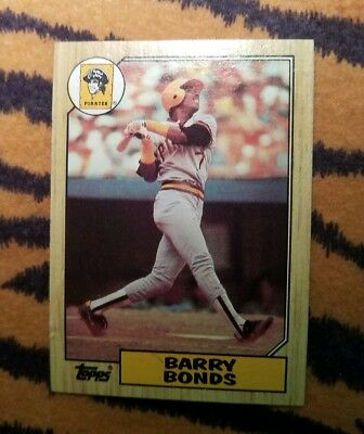 One 1987 Topps Baseball 320 Barry Bonds Rookie Card Pack
