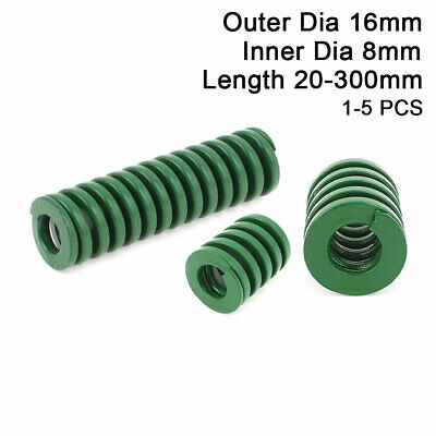 16mm OD Green Heavy Duty Compression Stamping Mould Die Spring 8mm ID All Sizes
