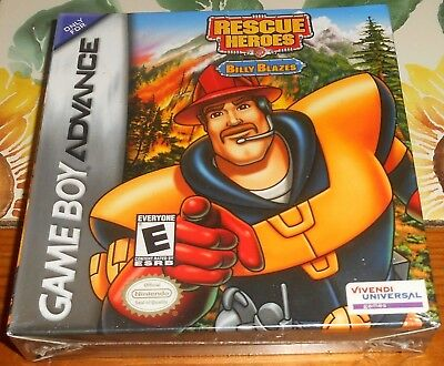 Rescue Heroes Billy Blazes Brand New Nintendo Game Boy Advance GBA Complete Box