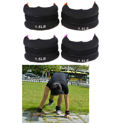 Adjustable Ankle Wrist Arm Leg Weights Sandbag for Running Exercise Fitness