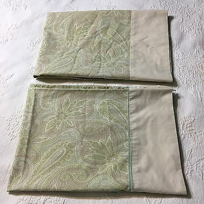 Vintage Martex No Iron Percale Standard Size Pillowcase  Muted Floral (b7)