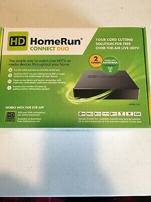 SILICONDUST HDHOMERUN CONNECT DUO 2-Tuner LiveTV for Cord