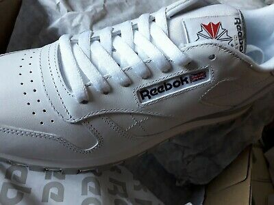 Reebok - Classic Leather Trainers in White  - Reebok Classics (UK Size 9.5 )