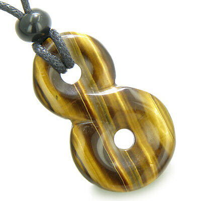 Infinity Magic Powers Knot Lucky Charm Evil Eye Protection Amulet Tiger Eye Gems