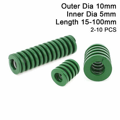 10mm OD Green Heavy Duty Compression Stamping Mould Die Spring 5mm ID All Sizes
