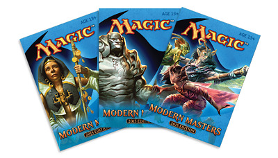 Magic Mtg Modern Masters 2015 Factory sealed Booster Pack X 3 !