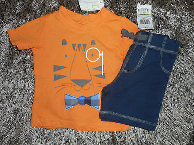 Nwt First Impressions Boys 3-6 Months 2-Pc Set Shorts & Tiger Tee