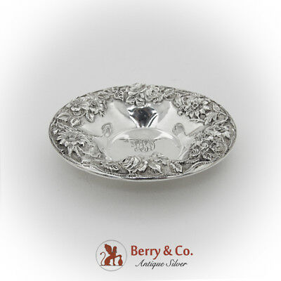 Repousse Floral Candy Dish S Kirk And Son Sterling Silver 1900