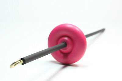 Hot Pink & Black Top or Bottom Lace Weight Drop Spindle - Learn To Spin