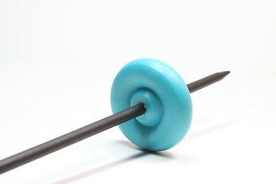 Teal & Black Top or Bottom Lace Weight Drop Spindle - Learn To Spin