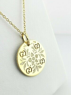 a4aa57c63 GUCCI ICON BLOOMS 18K Yellow Gold Pendant Necklace Retail $1490 ...