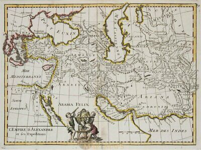 L'Empire d'Alexandre Old map Armenia Persia Le Rouge 1748